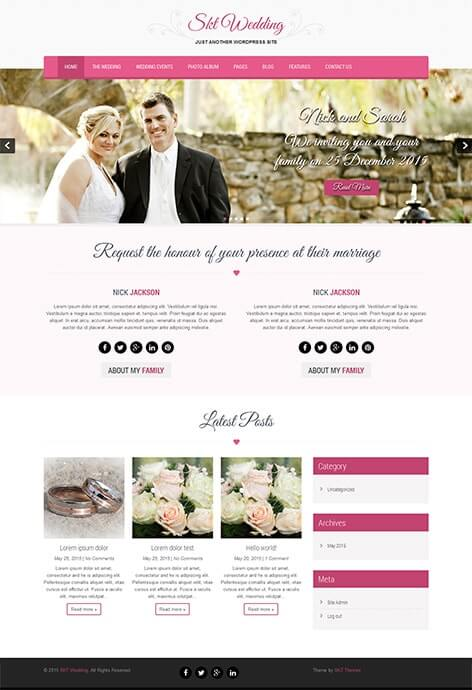 Free Wedding WordPress Theme for wedding websites | SKT Themes
