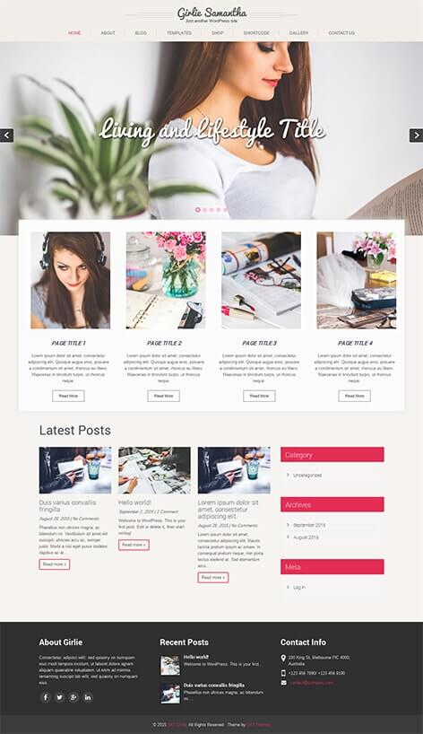 60 best responsive free wordpress themes with slider download free feminine wordpress theme pronofoot35fo Gallery