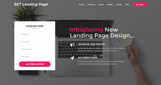 How To Create A Landing Page In WordPress SKT Themes - Wordpress landing page template