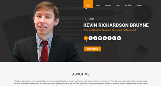 Resume WordPress Theme  Personal Website Resume