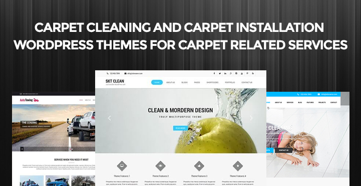 Carpet Cleaning and Carpet Installation WordPress Themes for Carpet Related Services
