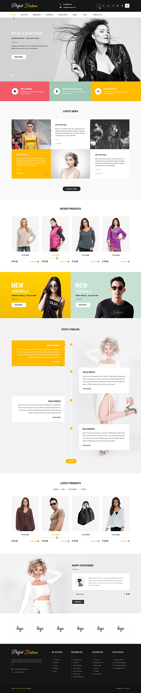Fashion Trends - Responsive WordPress Theme