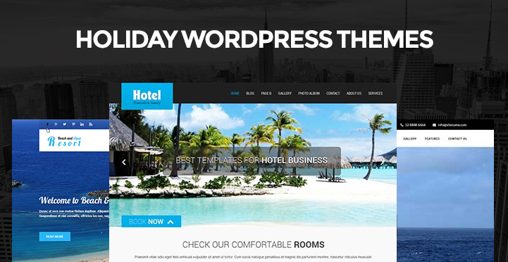 Holiday WordPress Themes for Holiday Vacation and Tour Websites