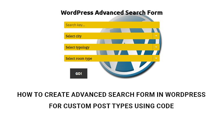 How to Create Advanced Search Form In WordPress Website