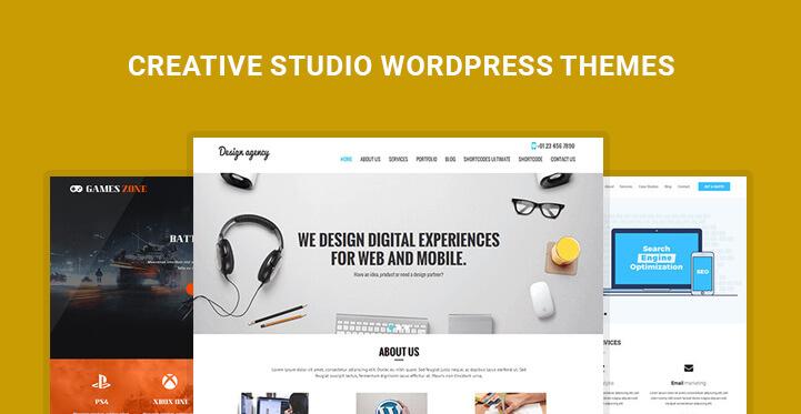 Creative Studio WordPress Themes for creative design studio sites ...