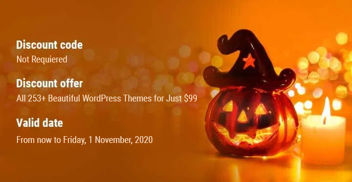 Best Halloween Deals and Discount on WordPress Themes 2021